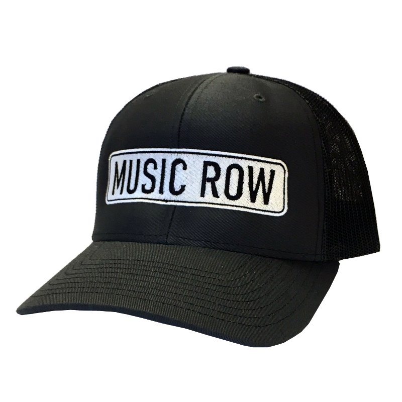 Music Row Grey and Black Road Sign Ballcap
