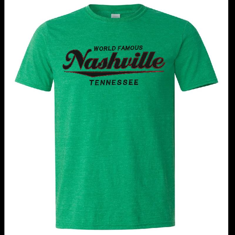 Nashville Heather Irish Green Logo Tee