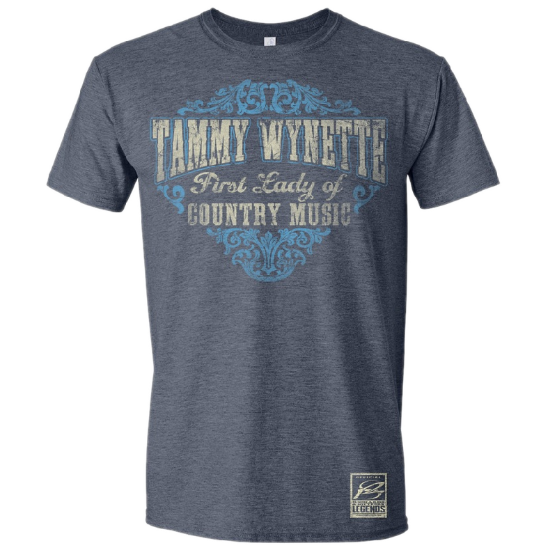 Tammy Wynette Heather Navy Tee