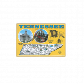 Nashville Magnet- Yellow Map