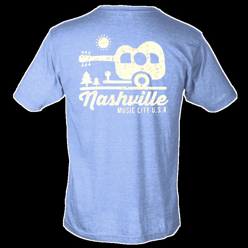 Nashville Athletic Heather Blue Camper Tee