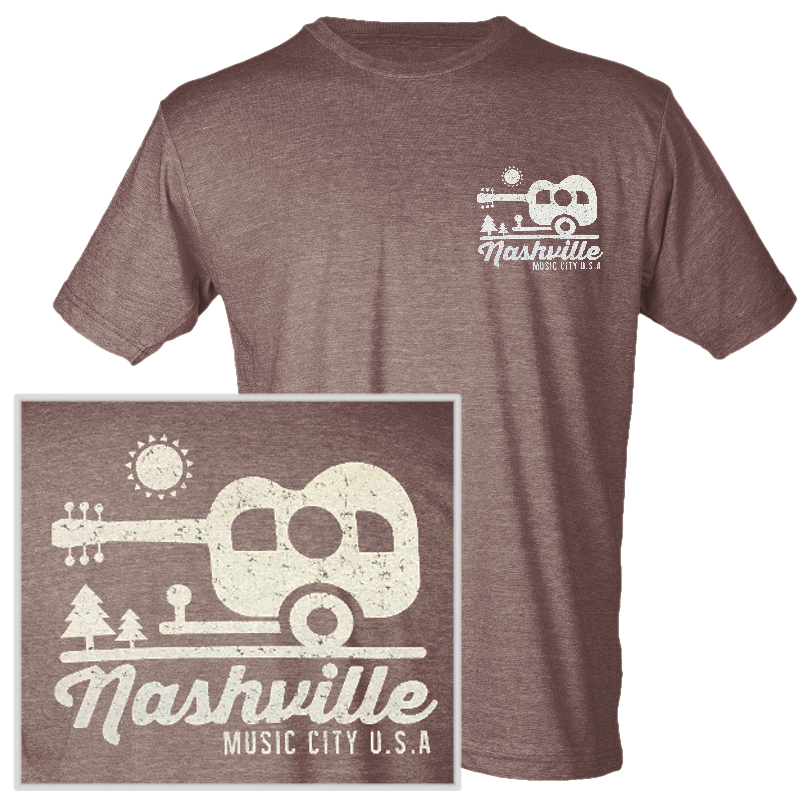 Nashville Heather Brown Camper Tee