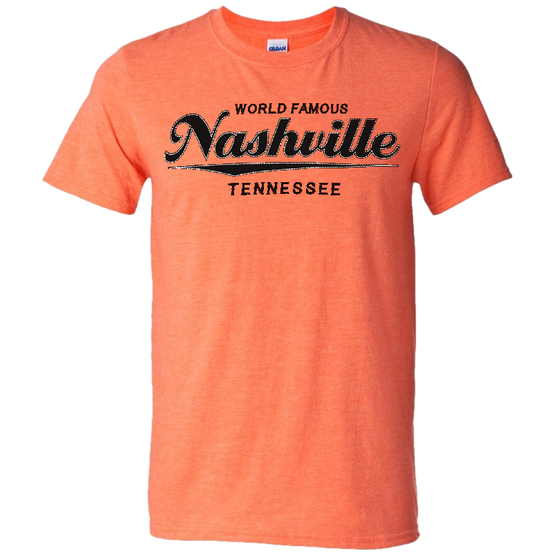 Nashville Heather Orange Logo Tee