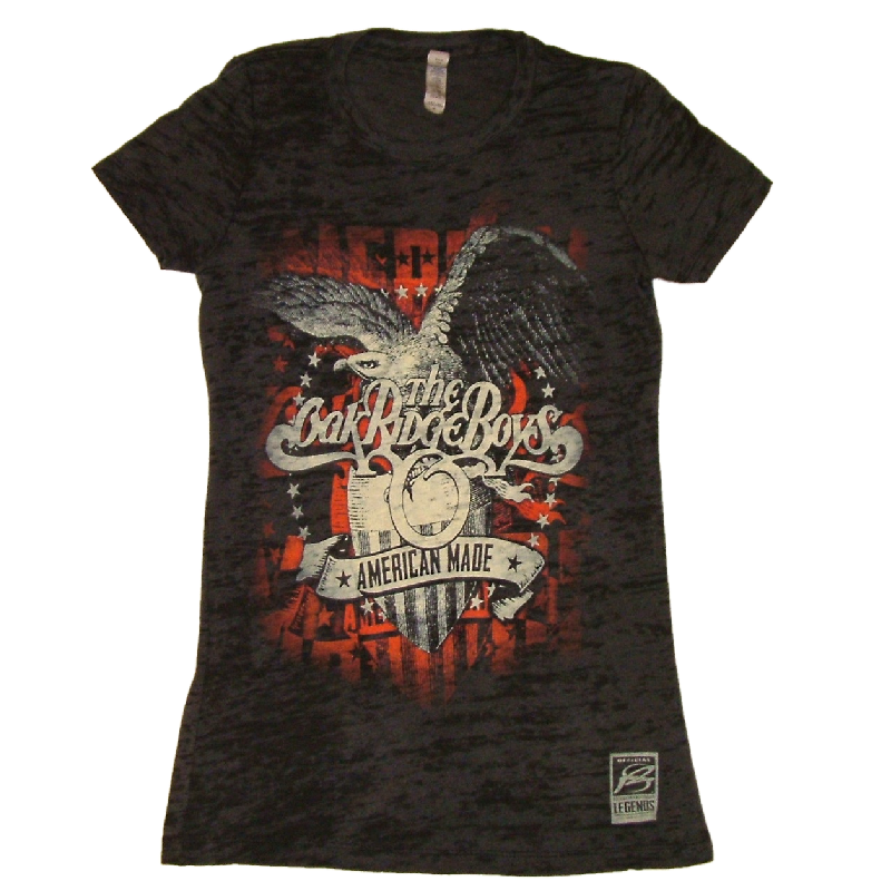 Oak Ridge Boys LADIES Black Burnout Tee