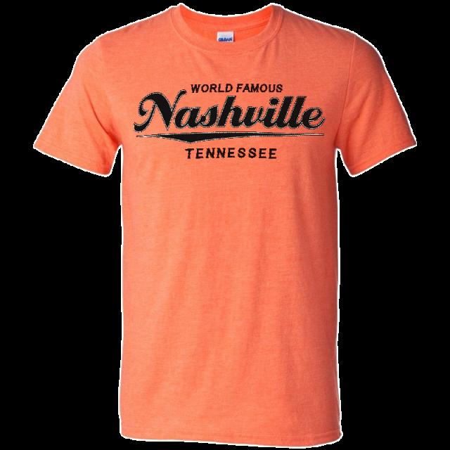 Nashville Heather Orange Logo Tee