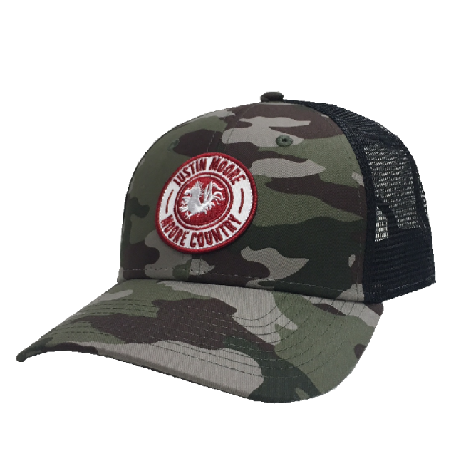 Justin Moore Camo and Black Ballcap