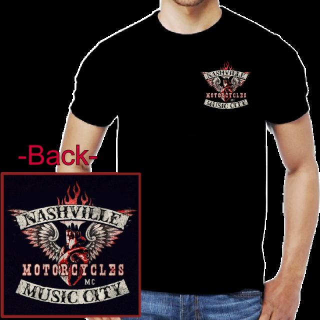 Nashville Music City Motorcycle Tee