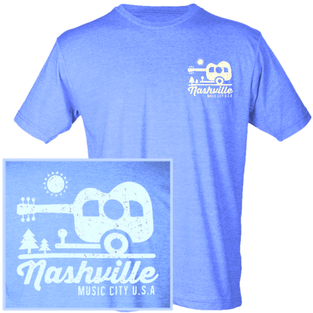 Nashville Heather Royal Blue Camper Tee