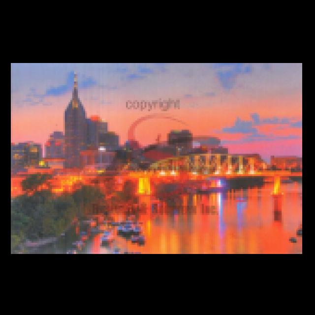 Nashville Postcard Pack- Night Riverfront Celebration